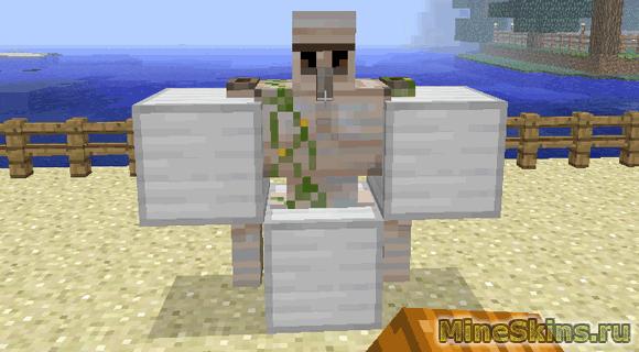 Голем в Minecraft. Как сделать железного или снежного голема в ...
