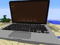Креатив карта MineCraft MacBook-Pro