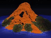 Карта выживание Вулкан MineCraft