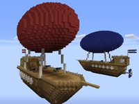 Воздушный бой в MineCraft