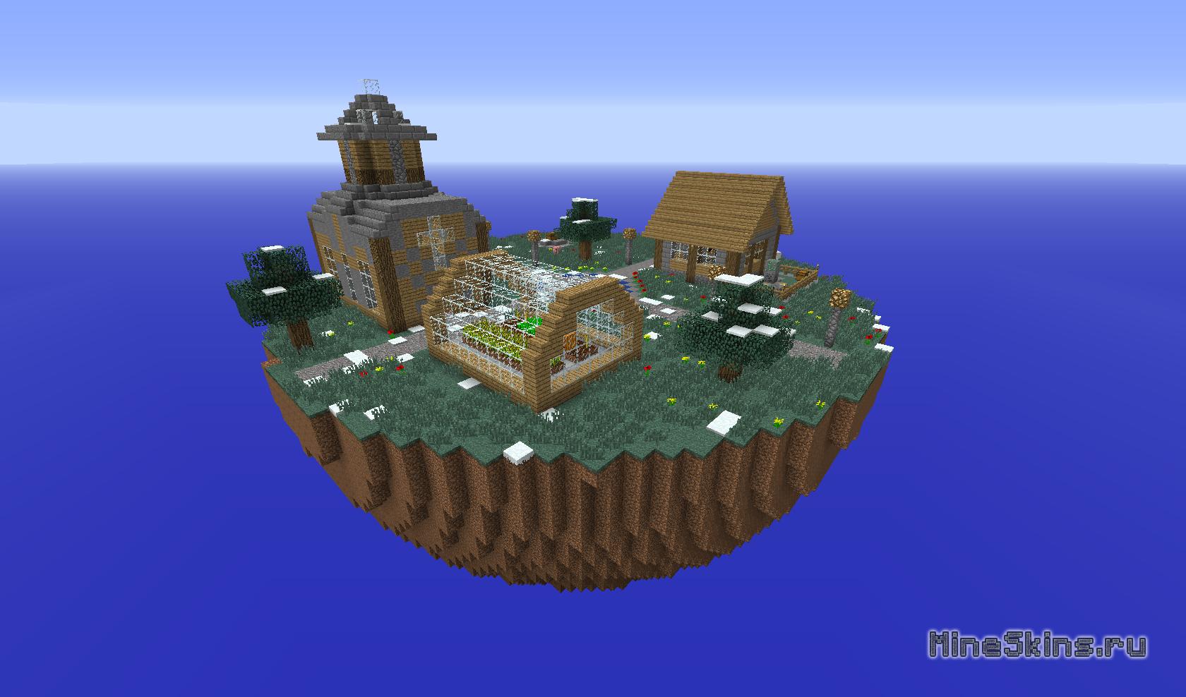 Острова в Воздухе Майнкрафт