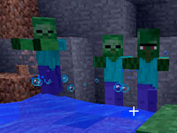 Зомби жители в MineCraft