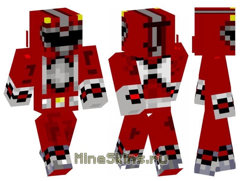 Скин  красный powerranger